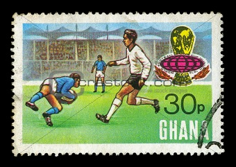 football match postage stamp