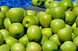 green apples fruit background