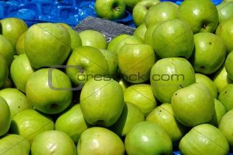 green apples fruit background