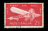 monoplane vintage postage stamp