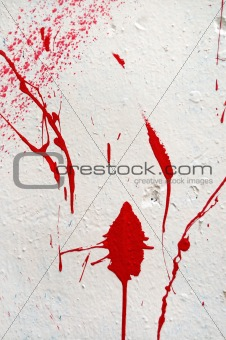 paint splashed stained wall