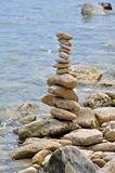 stone structure on rocky shore
