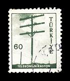 telephone pole postage stamp