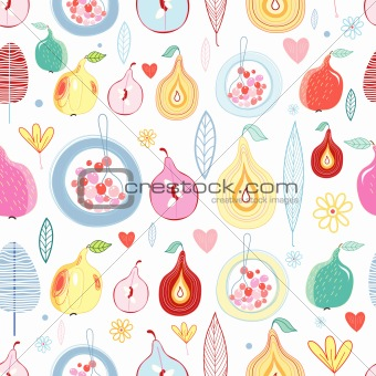 autumn fruit pattern