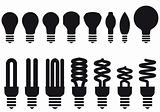 energy saving bulbs, vector