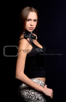 beautiful young woman photographed in the studio