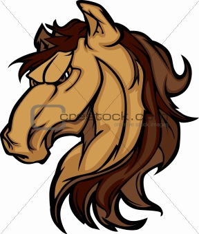 Mustang Stallion Mascot Cartoon Image