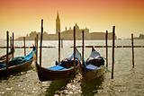 Gondolas in Venice