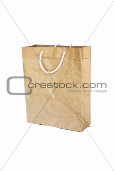 Brown Crumpled peper Bag