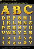 Set Gold 3D Alphabet