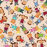 Boys and girls seamless pattern