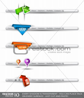 modern original style web headers
