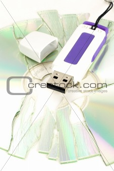 cd and usb key