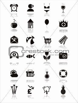 black web icons