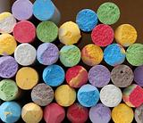 Color chalk close-up