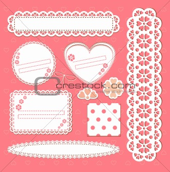 Vector set lace frames.