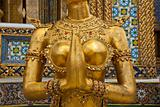 Female Garuda mid section in Grand Palace Bangkok Thailand