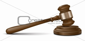 Vector judge gavel