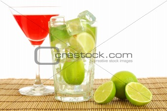 green and red cocktail