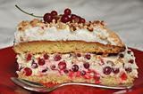 Piece of redcurrant cake