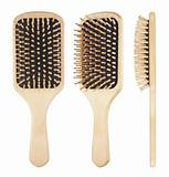 Wood hairbrush