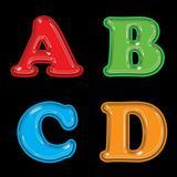 Plastic style Alphabet