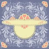 Ornate vintage vector floral frame on grange background