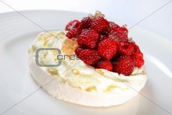 Raspberry Pavlova Dessert