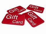 3d gift card red