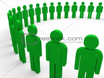 3d team circle green