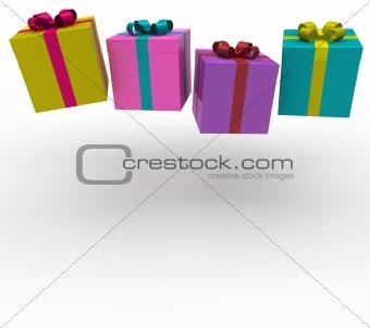 3d gift box fall