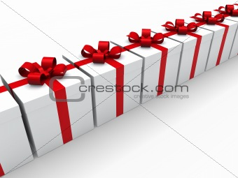 3d red gift box