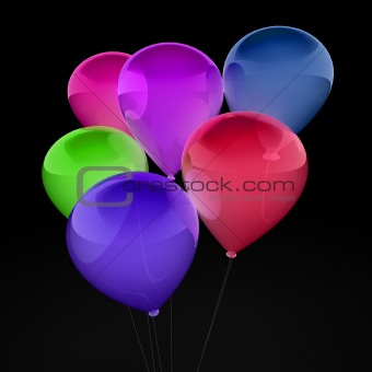3d balloon colorful