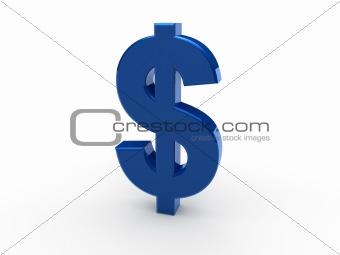 3d dollar blue