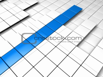 3d background cube blue white