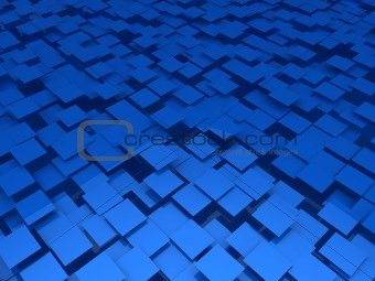 3d blue area background cube