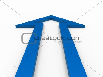 3d arrow blue up
