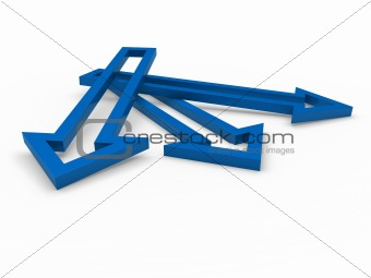 3d arrow blue