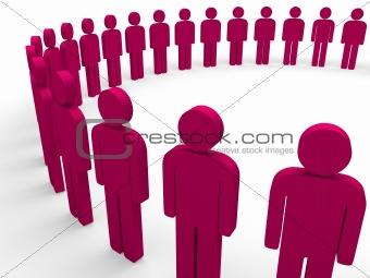 3d team circle pink
