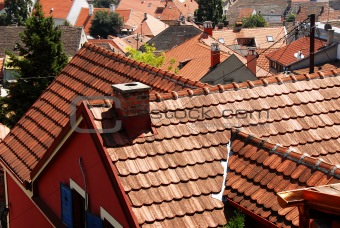 Tiled roof cityscape