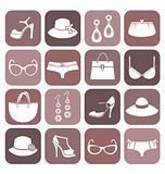 Fashion Items Icon Set