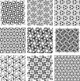 Set of monochrome geometric patterns. backgrounds collection