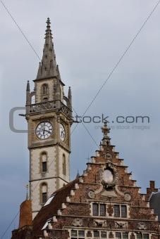 Clock tower in Gent, Belgium