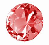 Singe red crystal diamond