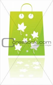 green autumn shopping bag