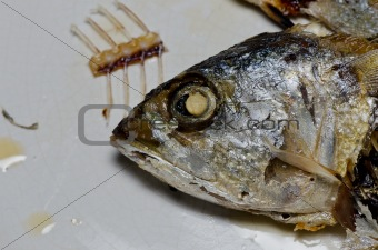 Chub mackerel fried