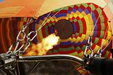 Hot air balloon rigging flames from jets