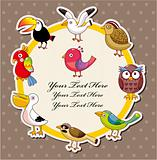 Cartoon bird card