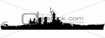 Naval battleship silhouette