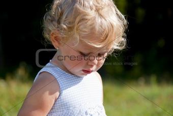 Blond baby girl